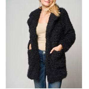 Jackets & Blazers - Open Front Faux Fur Coat